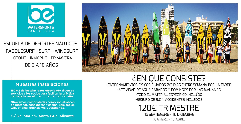 CD BE WATERSPORTS SANTA POLA